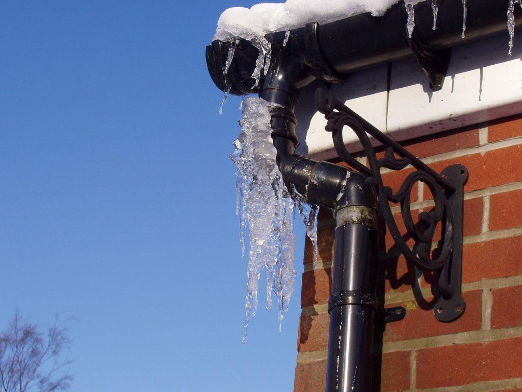 frozen pipe outside home