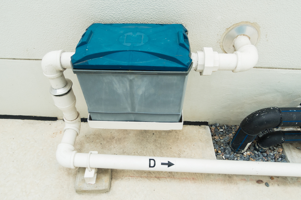 An example of a grease trap