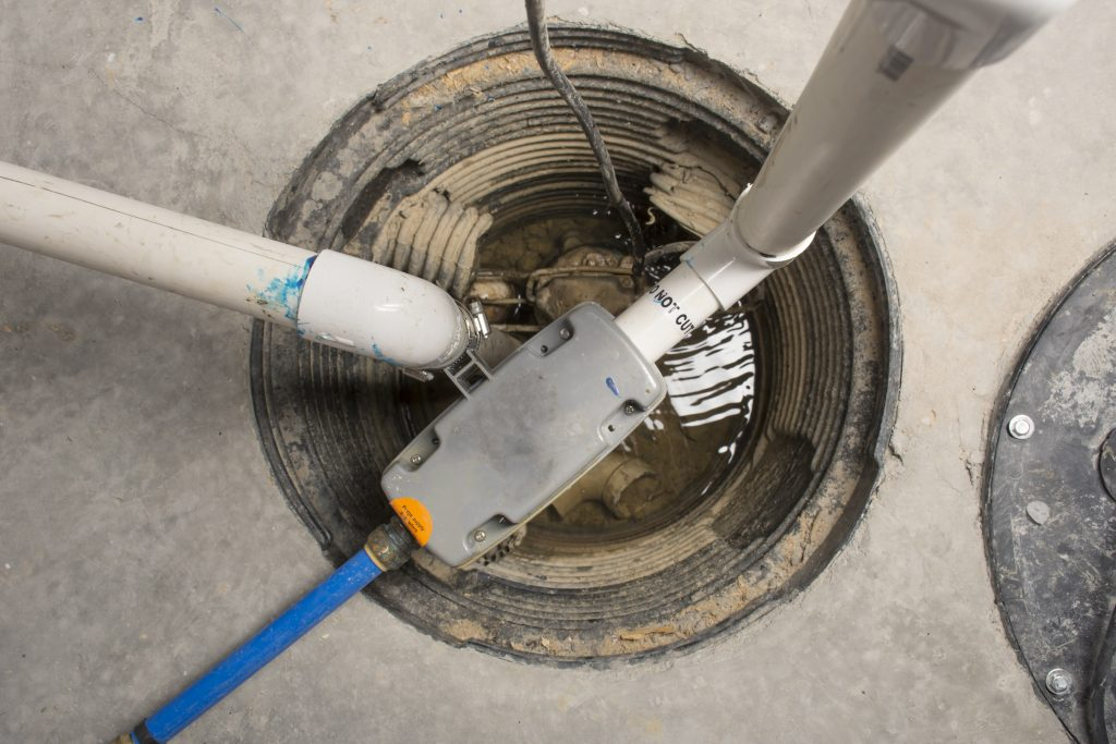 Inside sump pump